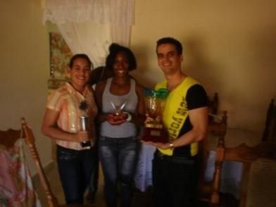 Silva en su casa tras la plata olímpica. Foto:Deporcuba/Septiembre 2012