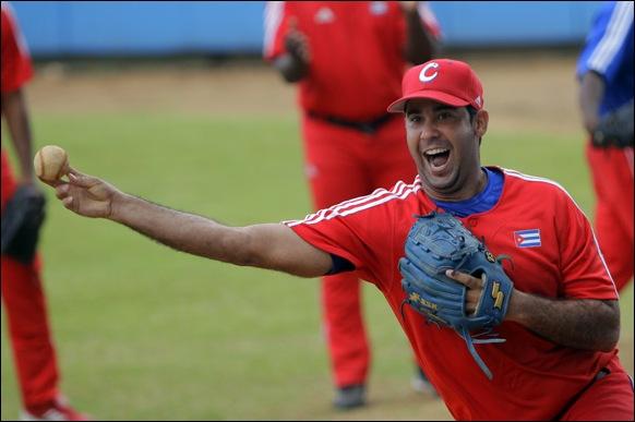 Entrenamiento rumbo al Clásico Mundial de Béisbol.  Ismael Jiménez, lanzador. Foto: Ismael Francisco/Cubadebate.