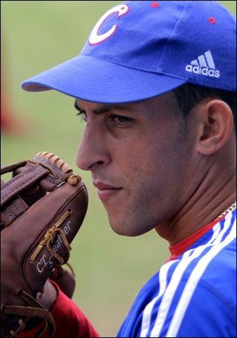 Entrenamiento rumbo al Clásico Mundial de Béisbol.  Pablo Millán Fernández, lanzador. Foto: Ismael Francisco/Cubadebate.