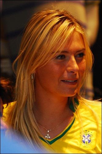 Tenista Maria Sharapova no Brasil