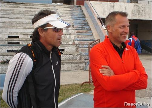 Gabino y Vince de Lange (entrenador de Eelco Sintnicolas)