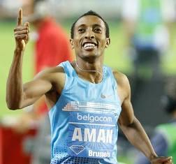 Mohammed Aman establece récord para Etiopia en los 800m