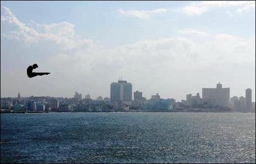 CUBA-LA HABANA-ENTRENAMIENTO DEL CLIFF DIVING 2014