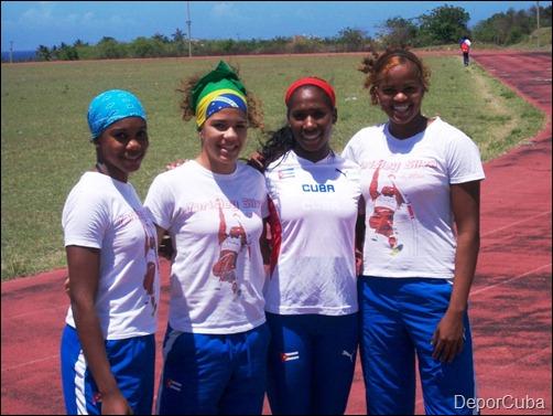 Women Pole vault cuban team