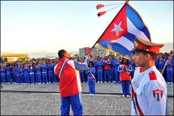 Abanderan delegacion cubana Juegos centroamericanos_Veracruz2014 (3)