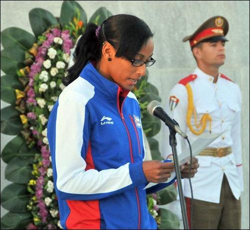 Abanderan delegacion cubana Juegos centroamericanos_Veracruz2014 (5)