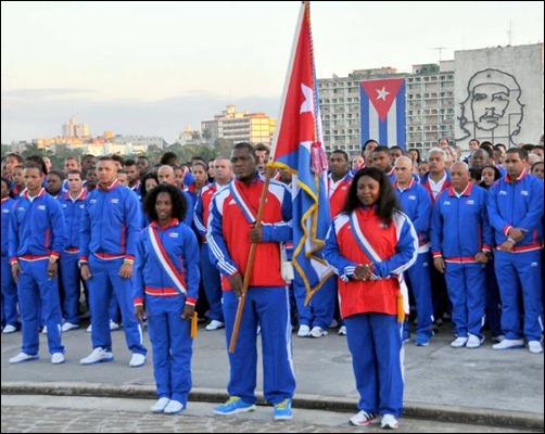 Abanderan delegacion cubana Juegos centroamericanos_Veracruz2014 (6)