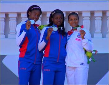 medallistas del heptalon_Deporcuba
