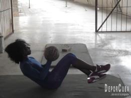 Yarisley Silva se entrena en La Habana