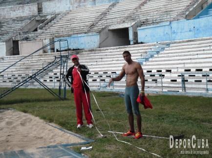 Sergio Mestre y su entrenador Luis Alberto Pinillo