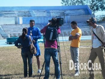 TeleRebelde en acción en el Estadio Panamericano
