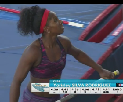 Yarisley Silva ganó con 4.66m e intentó optimizar su marca personal. foto: ScreenShot
