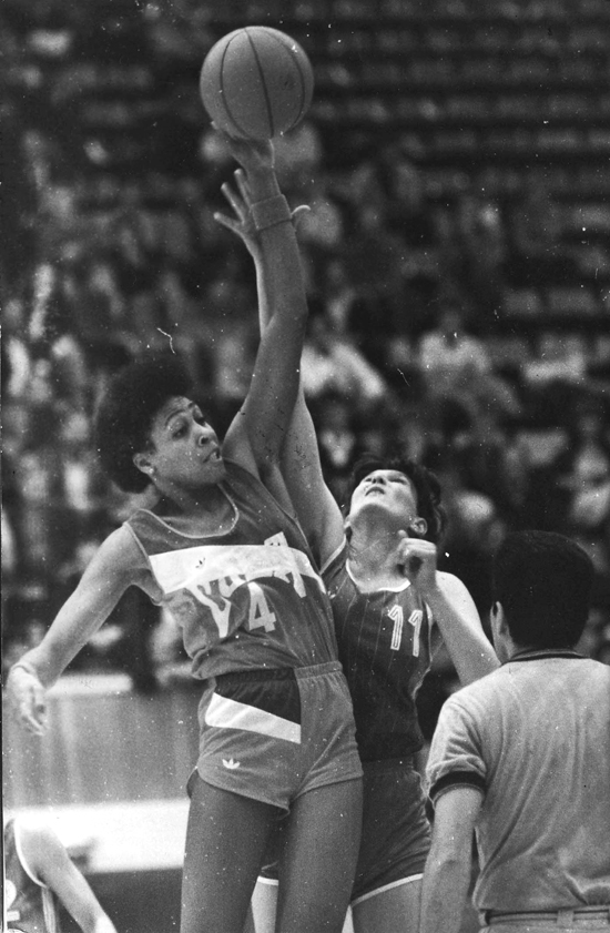 Leonor durante el Campeonato Mundial celebrado en la URSS en 1986. Foto: Juan Moreno