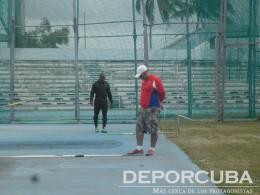 Entrenamientos del equipo cubano en el Estadio Panamericano