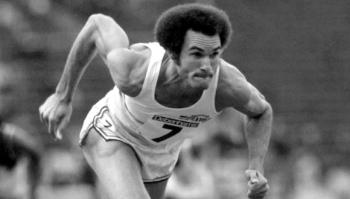 Alberto Juanterona en los 400 metros, en 1980. Foto: Tony Duffy/ Getty Images