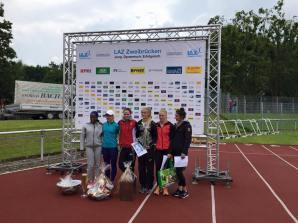 Yarisley Silva y las atletas que participaron en la Copa Himmelsstürmer 2016