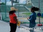 Yunaika Crawford supervisa entrenamiento de Yirisleidy Ford Cuba_Rio_Deporcuba