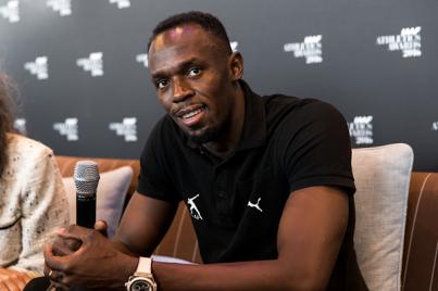 Usain Bolt durante la premiación de los mejores del año