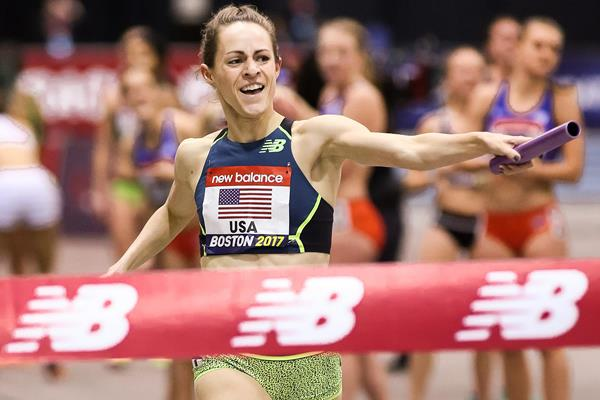 Jenny Simpsom en el New Balance Grand Prix de Boston