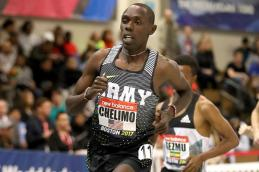 Paul Chelimo en el New Balance Grand Prix de Boston