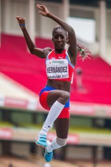 Zulia Hernández logró su incursión en la final del triple salto femenino