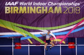 Momentos de la primera jornada de competencias en el Campeonato Mundial Indoor Birminghan 2018
