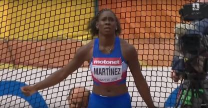 Yaritza Martínez calsificando a la final Tampere 2018